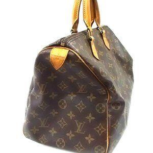 Auth LOUIS VUITTON Speedy 35 Monogram Handbag